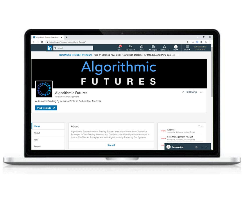 Social media company profile for Algorithmic Futures