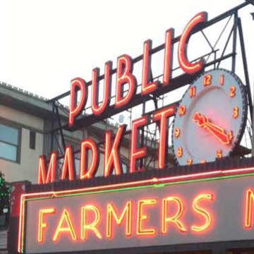 The famouse Seattle Pike Street Market sign.